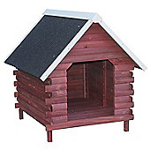 PawHut Wood Dog House Backyard Puppy Pet Kennel Waterproof Asphalt Roof
