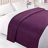 Dreamscene Soft Fleece Throw Blanket 120 x 150 cm - Purple