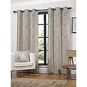 Hamilton McBride Africa Lined Eyelet Ivory Curtains - 90x72 Inches (229x183cm)