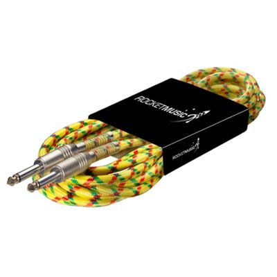 Rocket Vintage Tweed Instrument Cable - 6m Yellow