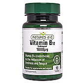 Natures Aid Vitamin B12 1000ug (Sublingual) - 90 Tablets