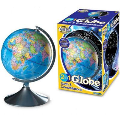 Illuminated Globe - Earth and Star Constellations