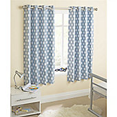Enhanced Living Eclipse Eyelet Curtains - Blue