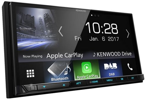 Kenwood In Car Stereo 7''│DAB+│Bluetooth│USB│Aux│Apple Carplay│Android Auto│DMX 7017DABS
