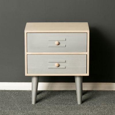Oslo Painted Silver And Grey Bedside