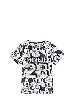 Disney Minnie and Mickey Mouse Mesh T-Shirt - Black