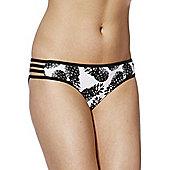 F&F Pineapple Print Bikini Briefs - Black & White