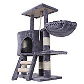 Confidence Pet Deluxe Cat Kitten Tree Scratch Post Activity Centre Grey