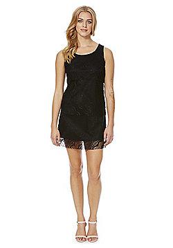 Mela London Tiered Lace Dress - Black