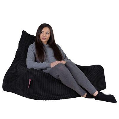 Lounge Pug® Lounger Beanbag - Cord Black