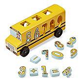 Melissa & Doug Wooden Number Matching Maths Bus