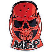 Madd Gear MGP Headtube Skull Logo Badge - Red