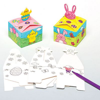 Buy easter colour in gift boxes for children to make decorate and easter colour in gift boxes for children to make decorate and fill with easter gifts negle Choice Image