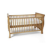 Scarlett Sleigh Cot Bed/Todler Bed & Foam Mattress - Country Pine