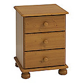 Steens Richmond 3 Drawer Bedside Pine
