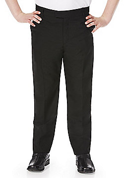 F&F School Boys Slim Fit Trousers - Black