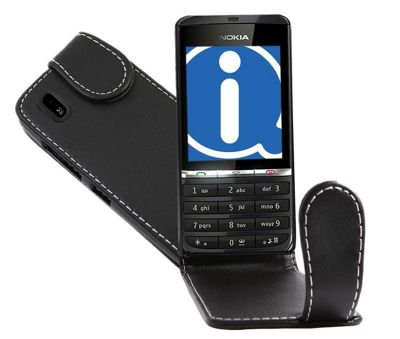 Black FlipMatic Easy Clip On Vertical Pouch Case - Nokia Asha 300