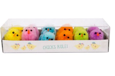12 Pack Easter Chick Decoration (Multicoloured) Brand New Easter Kids Fun