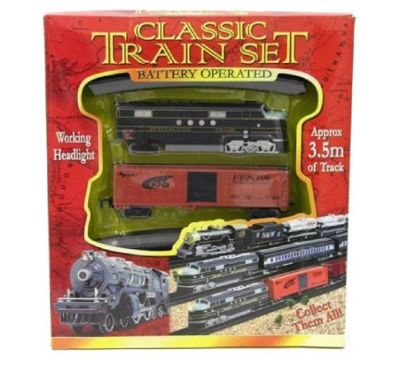 Classic Toy Train Set With Tracks & Sounds
