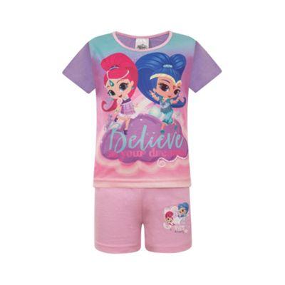 Shimmer And Shine Toddler Girls Short Pyjamas Purple 3-4 Years