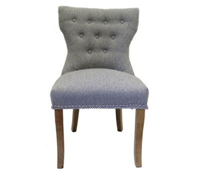 Henley Set/2 Tufted Upholstered Dining Chair,Grey Mix