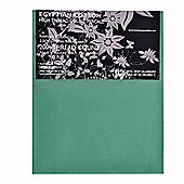 Homescapes 100% Egyptian Cotton Flat Sheet Plain 200 Thread Count - Teal