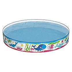 60 x 10 Inflatable Fill n Fun Garden Swimming Paddling Pool - Blue - Bestway