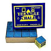 Triangle Billiard Chalk (12 Pieces) - Chalk Colour : Blue