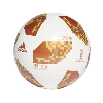 adidas Telstar Fifa World Cup 2018 Glider Football Soccer Ball White/Gold - 3