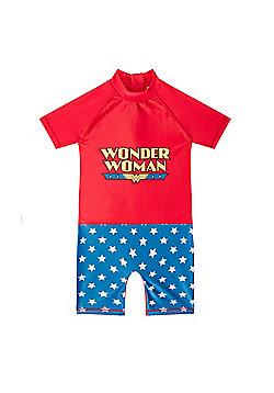 DC Comics Wonder Woman Toddler Girls Kids Swim Surf Suit - Red