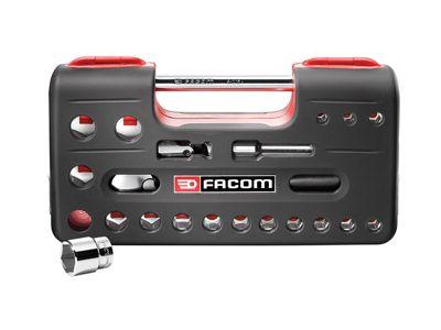 Facom SL.DBOX1 6 Point Socket Set 1/2in Drive 21 Piece