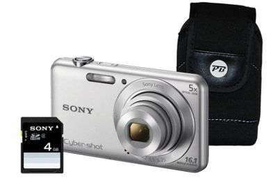 Sony DSC-W710 Silver Camera Kit inc 4GB SD Card and Case