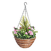 Artificial Azalea Topiary Hanging Basket (25cm) by Gardman