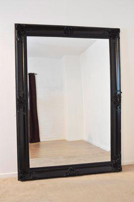 Beautiful Large Black Decorative Ornate Wall Mirror 7Ft X 5Ft (213 X 152Cm)