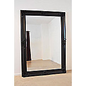 Beautiful Large Black Decorative Ornate Wall Mirror 7Ft X 5Ft (213 X 152Cm)