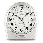 Acctim Astoria Smartlite Non-Ticking Alarm Clock - Silver