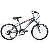 "Ammaco Bolt 24"" Wheel Boys Alloy Front Suspension Bike"