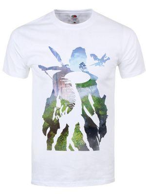 Aloy Silhouette Men's T-shirt, White