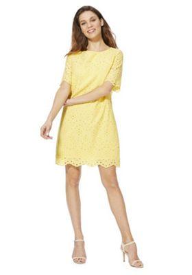 F&F Schiffli Lace Dress Yellow 10