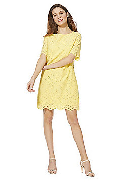 F&F Schiffli Lace Dress - Yellow