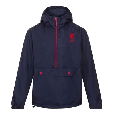 Liverpool FC Mens Half Zip Shower Jacket Navy Small