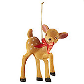Retro Bambi Christmas Tree Decoration