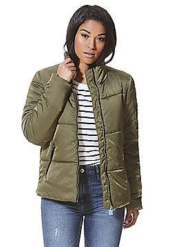 JDY Quilted Jacket - Khaki