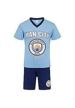 Manchester City FC Boys Short Pyjamas - Blue