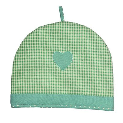 Rushbrookes Vintage Home Heart Design Tea Cosy in Green 6 Cup