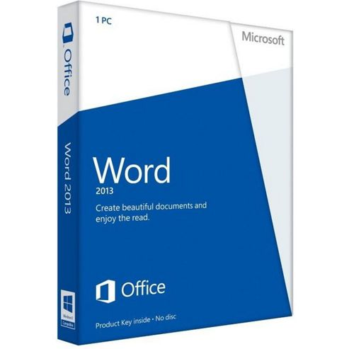 Microsoft Word 059-08400 2013 32-Bit/x64 (English) Medialess Non-Commercial