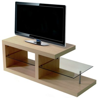 Techstyle Chunky TV Stand - Oak