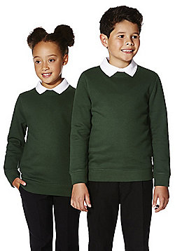 F&F School Unisex Sweatshirt with As New Technology - Forest green