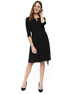 Wallis Keyhole Fit and Flare Dress - Black