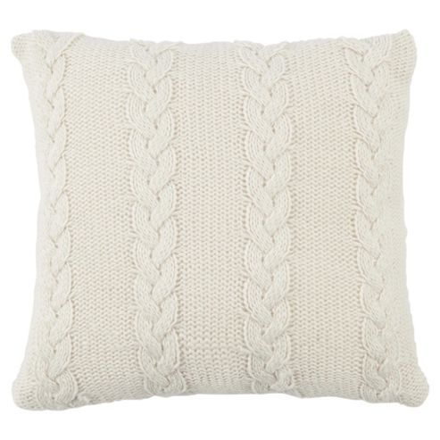 Cable Knit Cushion Cream